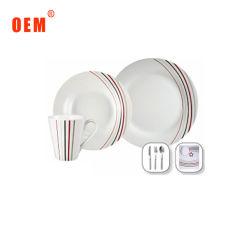 Niedriges MOQ Essgeschirr 500 Sets sind preiswertes Porzellan-Essgeschirr sperrig