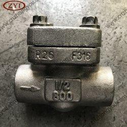 A ANSI 800# Solda tomada tipo Pistão em aço forjado Levante a válvula de retenção