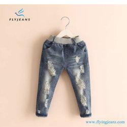 Späteste zerrissene Denim-Jeans der populären Mädchen mit Gummiband durch Fliegen-Jeans