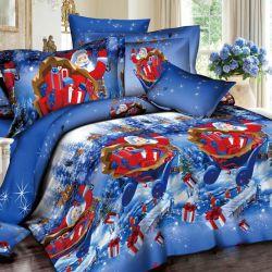 De aangepaste Afdrukkende Textiel van het Decor van het Huis van de Dekking van het Beddegoed van de Vakantie van Kerstmis