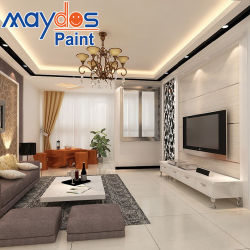 Вода в акриловой эмульсии краски на стене