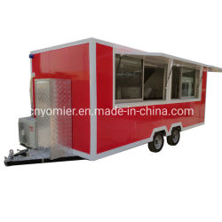 큰 공간 이동할 수 있는 음식 체더링 아이스크림 음식 부엌 트럭