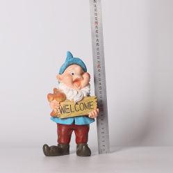 Resina de polietileno Anão Figurine Gnome decoração de jardim