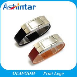 سوار من الجلد المعدني نمط الأزياء محرك أقراص USB PU ذاكرة USB ذاكرة فلاش قرص USB من الجلد