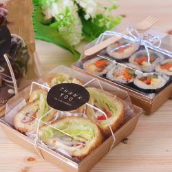 Contenant de nourriture à base de sushi / pain / gâteau en plastique transparent jetable PP