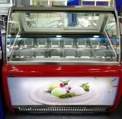 Высокое качество коммерческого холодильник мороженое демонстрация супермаркет торговый центр