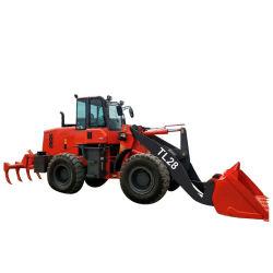 Zl28 2.8t 미니 건설 장비 붐 셀프 휠 로더 트럭 판매