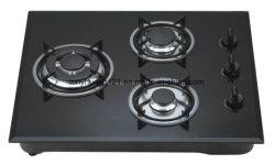 """60cm (24"""") 3 brûleurs cuisinière à gaz intégré en verre"""