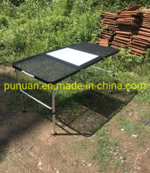 L'acier portable Net et alu tube table Barbecue