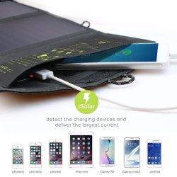 جهاز USB DC Phone محمول قابل للطي بقدرة 14 واط قابل للطي وقابل للطي ومحمول حقيبة شاحن شمسي مصنّع المعدات الأصلية (OEM)