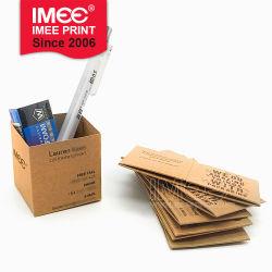 cadeau de promotion de la créativité Personnalisé 2 en 1 fonctions pliable Mini Boîte de rangement et le papier Carte d'affaires