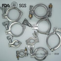 ステンレス鋼衛生頑丈なTcの高圧管のフェルールの三パイプ・クランプ