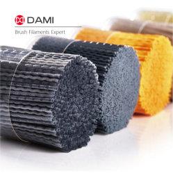 다이아몬드 Ao 가는 닦는 깔깔한 면을 자르는 산업에게 솔 만들기를 위한 알루미늄 Sic 실리콘 탄화물 모래 PA612/610/6 나일론 거친 철사 섬유 강모 필라멘트