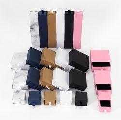 Multi-Color opcional e requintado estilo Gaveta High-End Caixa de jóias de papel, pernos de auriculares tipo gaveta Caixa do Anel Caixa de Acessórios personalizados