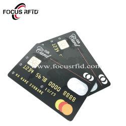 공백 RFID 접촉 IC 카드 플라스틱 은행 크레디트 카드 Cotactless PVC 충절 카드