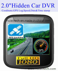 """Mini Coche privado Black Box Dash videocámara DVR con 2.0"""" 1080P HD y FHD Coche grabador de vídeo digital, Sony cámara,Control de aparcamiento, WiFi, GPS de seguimiento móvil DVR 2001"""