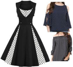 Frauen-der Frauen der Dame-Ladys New Design Fashion Hochzeitsfest-Abend-Kleidungs-Kleidung-Abnützung-Kleid-Blusen-Kleid-Kleid Baumwollbeiläufiges