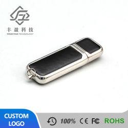 昇進のギフトはロゴPU革USBのフラッシュ駆動機構を浮彫りにした