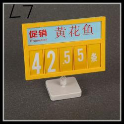 Promoção de Preços dos Produtos de Base Magnética Titular/Supermercado Preço coloridos publicidade (L7)