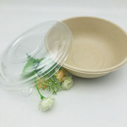 1000ml Ronde Suikerriezak Salad Bowl Met Pet Deksels