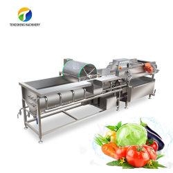 Linea commerciale per la lavorazione di frutta e verdura attrezzatura per robot da cucina frutta Lavavalunotto con vortex Chip Ginger lavatrice industriale Chili Cleaner