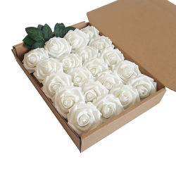 핫 셀링 폼 플라워 FOSE 7cm PE Artificial Foam Rose 꽃