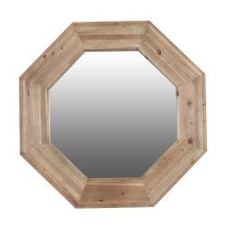 Banheiro Octagon Espelho de Parede de madeira recuperados