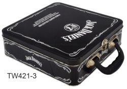 ハンドル、錫のお弁当箱、カスタム金属の昼食の錫ボックスが付いている錫のお弁当箱