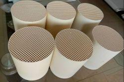 En forma de panal de cerámica refractaria El intercambiador de calor