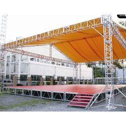 Outdoor Portable Exhibition Concert Events Wedding Stage Lighting Show Speaker Aluminium Truss met gebogen dak LED-display Truss TUV SGS CE