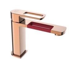 Accessori per bagno sanitari doccia in ottone lavandino cucina bionda Rubinetto miscelatore (ZF-1101RG)