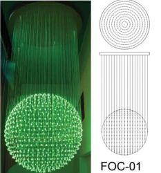 ثريا من الألياف الضوئية الضوئية FOC-01 مع 3*075 ملم من ألياف Sparkle كبلة إضاءة بصرية