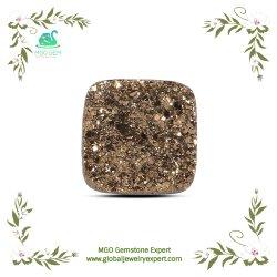 MGO 글로벌 주옥 사각은 반지 또는 펜던트를 만드는 DIY 디자인을%s 합성 처리되지 않는 느슨한 Druzy 마노 원석을 잘랐다