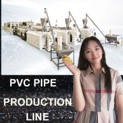 플라스틱 PE/PP/PVC/PPR 단일/이중 나사 골판형/나선형 도관 튜브 호스 코일링 권선 압출/압출기/절단 베링 프로파일 기계 제작