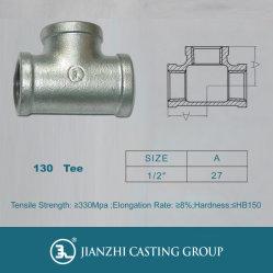 Adaptador en T de hierro maleable galvanizado