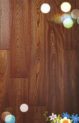Antique V piso de madeira laminada da ranhura