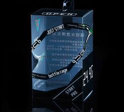 Confezione da imballaggio trasparente pieghevole per stampa UV in PP/PVC/PET Plastic con stampato