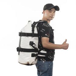 500d PVC 방수포 형식 50L 옥외 방수 부대 50L 여행 부대 어깨끈으로 하이킹을%s 방수 부대 책가방이 최고 수용량 학교 부대에 의하여