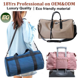 Lady Brand Fashion Genuine Leather Sling Sports Gym Bag Shoulder Messenger Bag Duffel Dames Sporttas Luxe Duffle Tote Bag Designer Women-reistas voor bagage