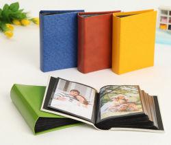 Álbum de fotos de cuero multicolor con inserción de tipo (PA-005).