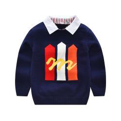 Il maglione primario del neonato dei capretti dell'uniforme scolastico progetta le maschere dei tipi di vestiti del Crochet o del Knit