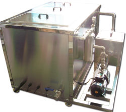 360L Car Industry Ultrasonic Cleaner met Oil Catch Can 2mm SUS304 Tank