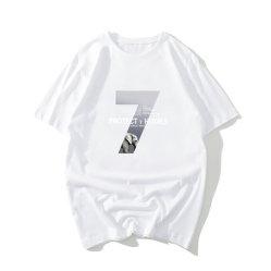 Comercio al por mayor de los hombres DE MANGA CORTA Camiseta Cuello redondo Deportes y ocio puro algodón Camiseta Top Logotipo personalizado