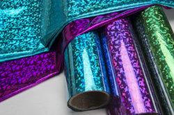 Hologramme estampage à chaud pour les tissus en aluminium