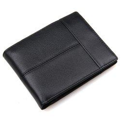 حامل بطاقة الهوية للبيع الساخن الأصلي محفظة سوداء من الجلد الكوبهايد