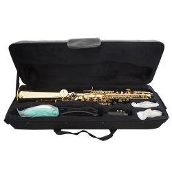 Muzikale Instrument van de Saxofoon van de Discant van het Hout van de douane het Rechte