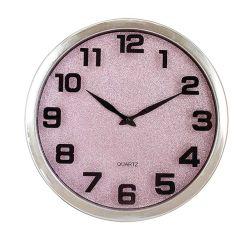 """16"""" сияющий розовый европейского 2 с левой пластиковой Quartz Настенные часы"""