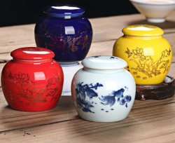 Té de cerámica de porcelana Caddy puede