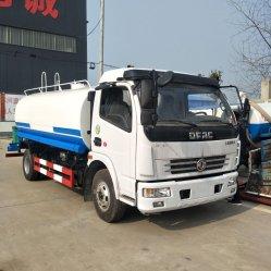 China Fabricante 8000L de água do tanque de fornecimento de água, caminhão por sprinklers automáticos, água Bowser Veículo cisterna de água caminhão, transporte de água caminhão, Aço Inoxidável Camião