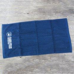 Обычный домашний 100% хлопок вышивка спорта полотенце для занятий в спортзале
